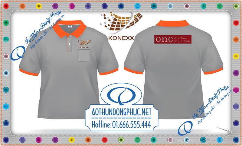 In áo thun đồng phục Konexx Công ty chúng tôi nhận may áo thun, in áo đồng phục theo yêu cầu. Thiết kế áo thun đồng phục miễn phí. Giao áo thun nhanh và miễn phí các đơn hàng từ 100 cái trở lên trên toàn quốc.