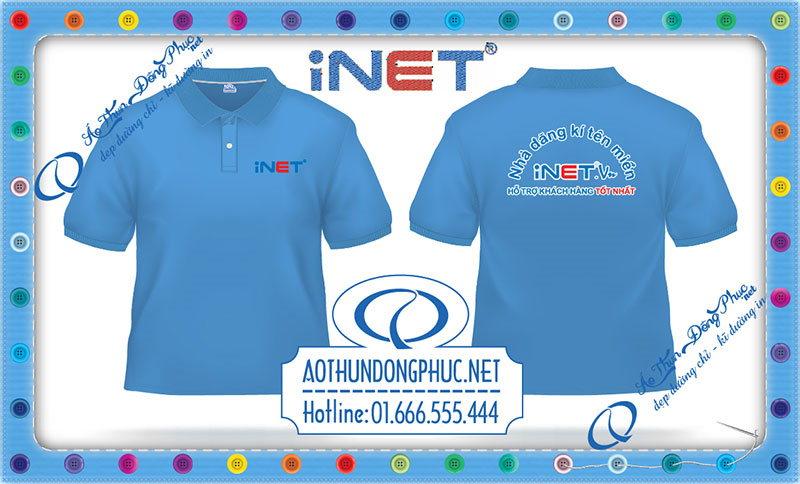 Mẫu áo phông đồng phục của công ty Inet