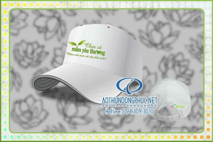 Mẫu nón lưỡi trai in logo Công ty Sen Việt media