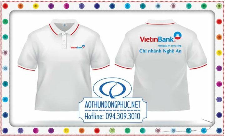 Mẫu đồng phục áo phông Viettinbank - Chi nhánh Nghệ An