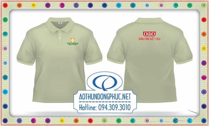 Mẫu áo phông đồng phục dầu ăn Oilio