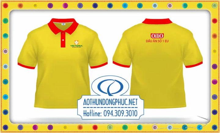 Mẫu đồng phục áo phông nhân viên dầu ăn Oilio
