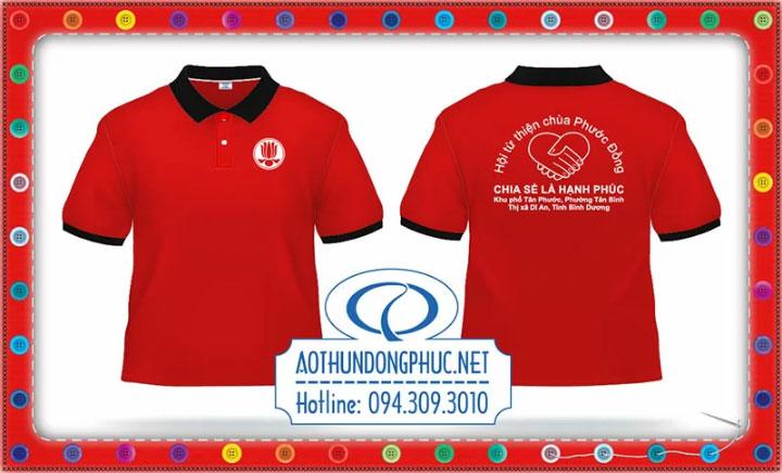 Mẫu áo phông nhóm từ thiện Chùa Phước Đồng-Thị Xã Dĩ An-Tỉnh Bình Dương