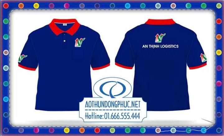 Mẫu áo phông nhân viên giao nhận AT logicstics