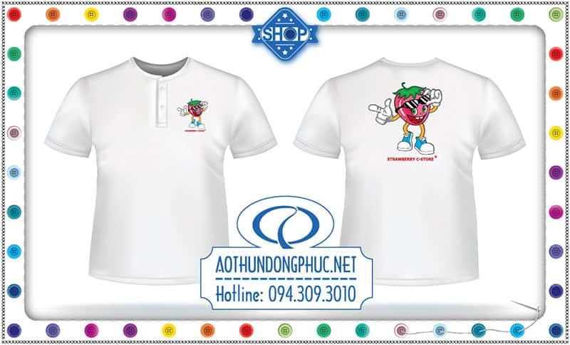 Mẫu áo phông Shop Strawberry