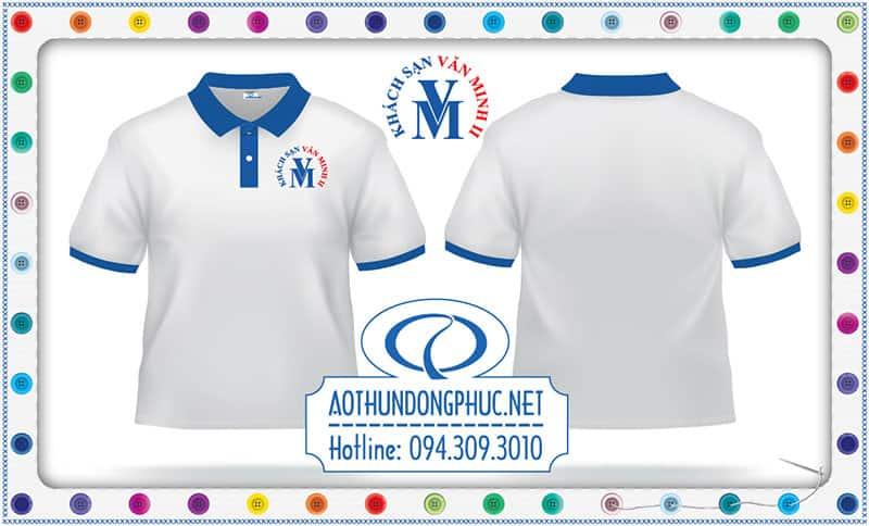 Mẫu áo phông nhân viên KS Văn Minh