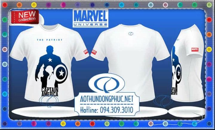 Mẫu áo phông Marvel Captain America