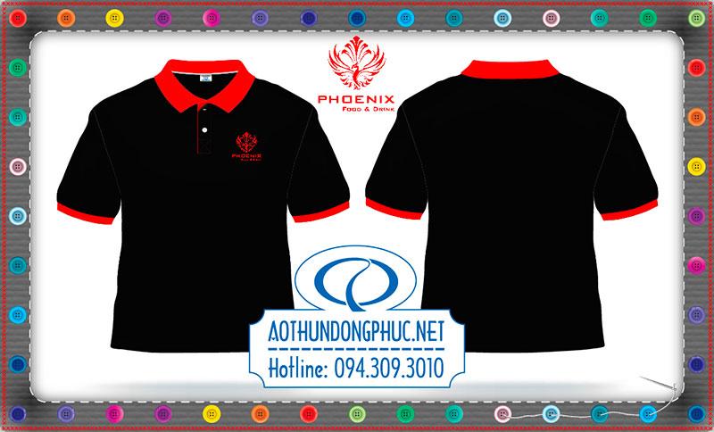 Mẫu áo phông nhân viên quán nước Phoenix