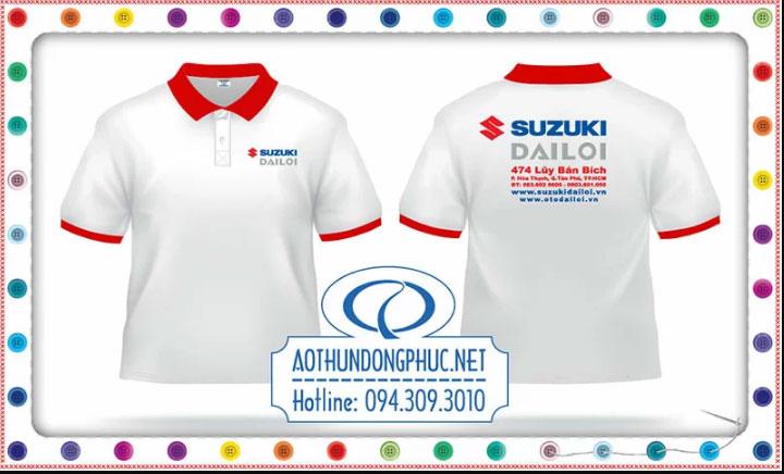 Mẫu in áo phôngđồng phục nhân viên Head Suzuki