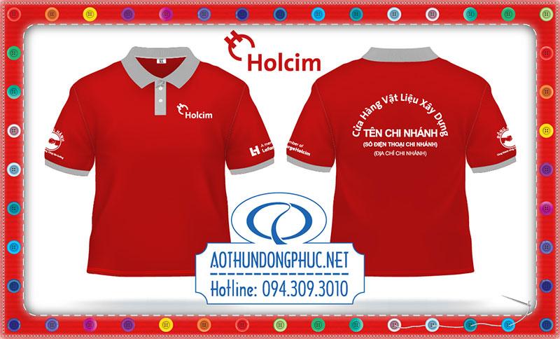 Mẫu áo phông chi nhánh tập đoàn Holcim tại Việt Nam