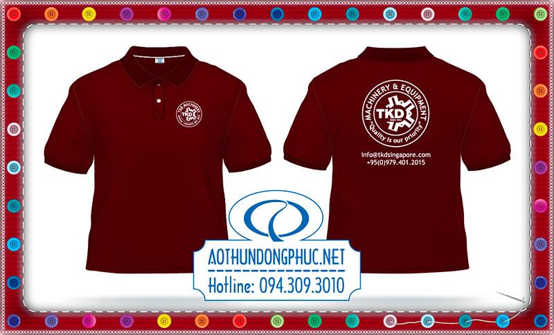 Mẫu áo phông đồng phục TKD Singapore