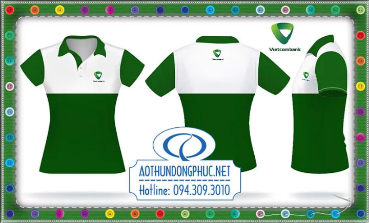 Mẫu áo phông đồng phục nhân viên Vietcombank