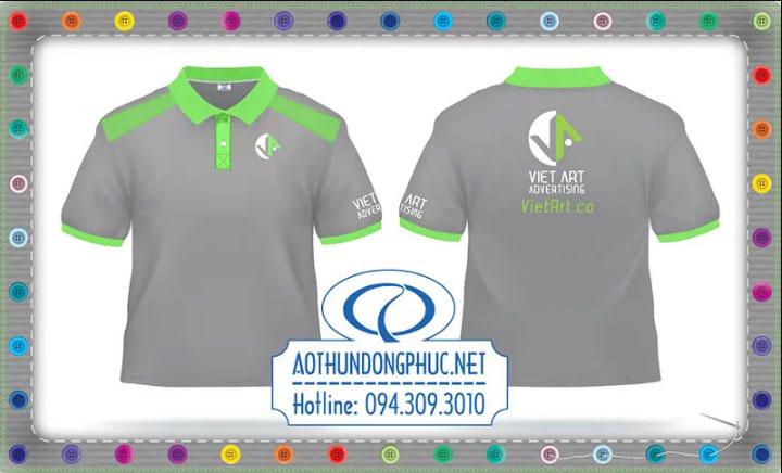 Mẫu áo phông quảng cáo công ty Vietart advertising