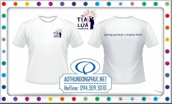 Mẫu áo phông đồng phục công ty Tia Lửa