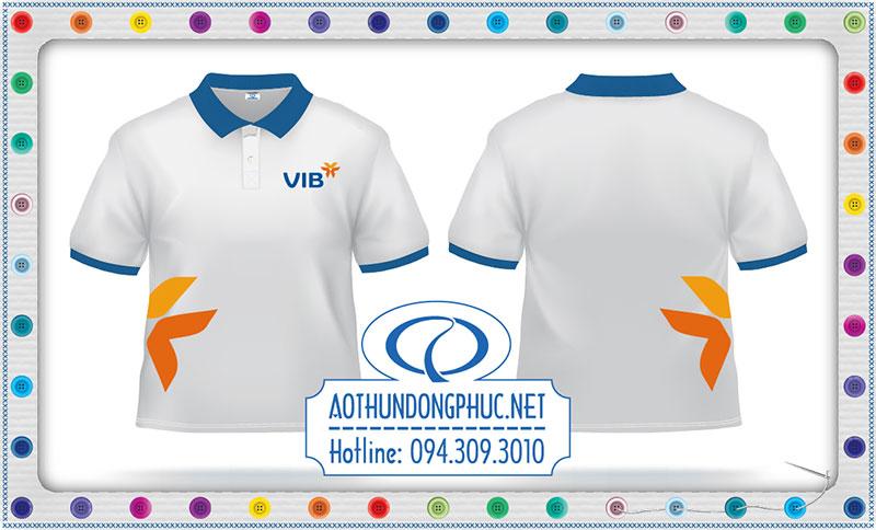 Mẫu áo phông đồng phục ngân hàng VIB