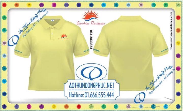 Mẫu áo phông đồng phục nhân viên Sunshine Residence