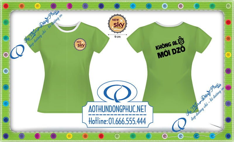 Mẫu áo phông đồng phục nhân viên nữ-New Sky