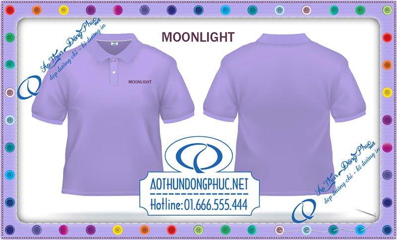 Mẫu áo phông nhân viên giá rẻ Moonlight