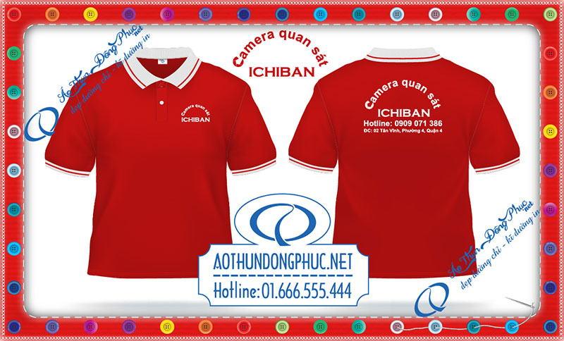 In áo thun đồng phục camera ICHIBAN Quận 4 Công ty may in thêu áo đồng phục giá rẻ theo yêu cầu gốc tận xưởng tại Hà Nội-TPHCM