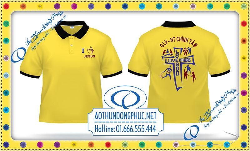 Công ty may đồng phục Phục Đồng nhận in áo thun đồng phục giáo lý viên, đồng phục sinh viên Công Giáo. In áo đồng phục Công Giáo theo yêu cầu giá rẻ