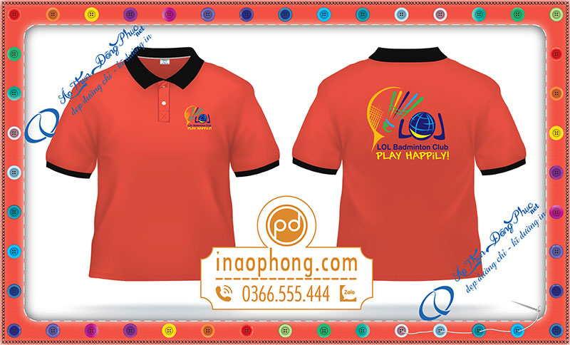 Mẫu áo đồng phục nhân viên văn phòng Badminton