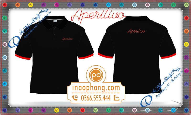In áo phông đồng phục quảng cáo Aperitivo