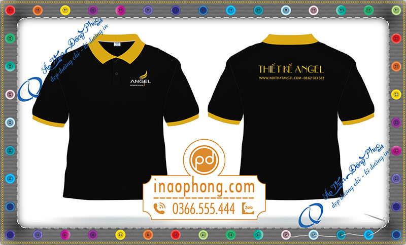 Mẫu áo phông đồng phục văn phòng thiết kế ANGEL