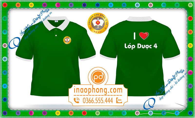 In đồng phục áo phông sinh viên y dược Hà Nội