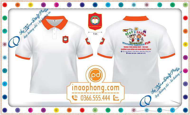 Xưởng may áo phông đồng phục sinh viên Cao Đẳng AnNinh