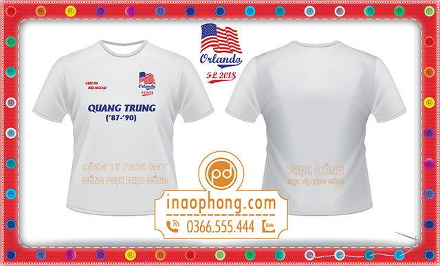 Mẫu áo phông họp lớp cựu học sinh Trường Quang Trung tại hải ngoại