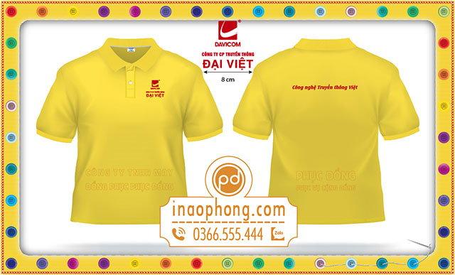 Mẫu áo phông đồng phục nhân viên công ty cổ phần truyền thông Đại Việt