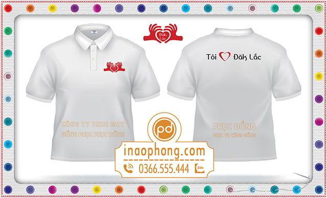 Mẫu áo phông đồng phục nhóm tôi yêu Đắk Lắk
