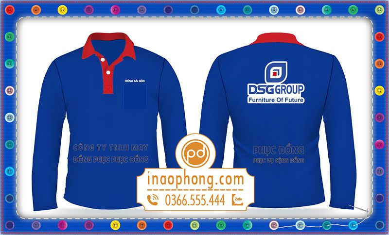 Áo phông dài tay Công ty Đông Sài Gòn