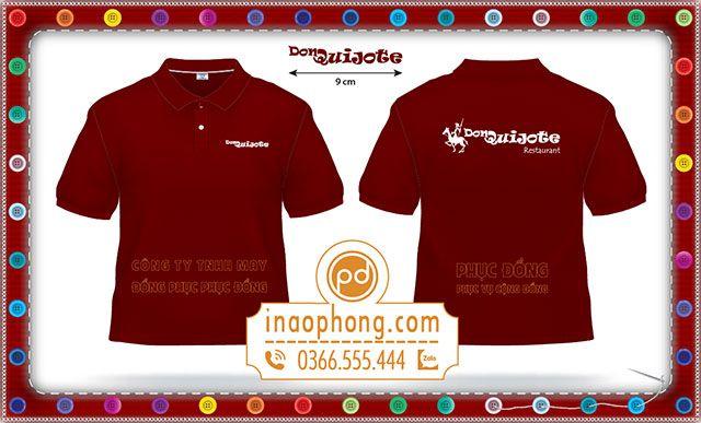 Mẫu áo phông đồng phục nhân viên phục vụ nhà hàng Don Quijote-Vũng Tàu
