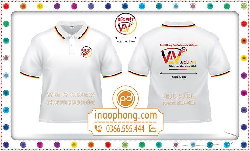 Mẫu đồng phục áo phông Công ty Đức Việt