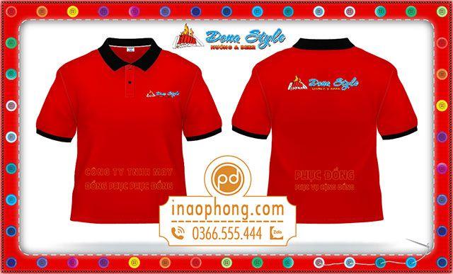 Mẫu áo phông đồng phục nhà hàng Nướng & Beer Dona Style