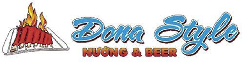 Logo In đồng phục quán ăn Nướng&Beer Dona Style