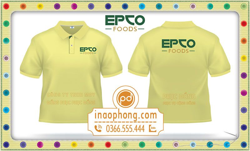 Mẫu in logo áo phông Công ty Epco Food