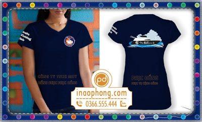 mẫu áo phông quà tặng in logo câu lạc bộ đánh bắt cá Yamato - Korea