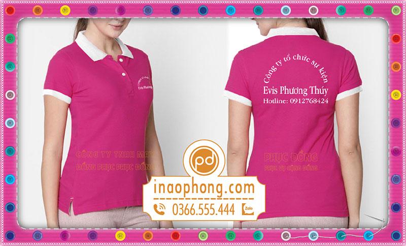 Mẫu đồng phục áo phông thực tế nữ công ty tổ chức sự kiện Elvis Phương Thúy