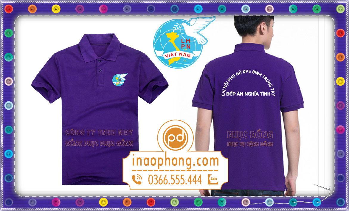 Áo đồng phục nhóm KP5 hội phụ nữ Việt Nam