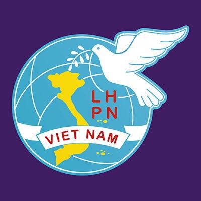 Logo in trên áo đồng phục nhóm KP5 hội phụ nữ Việt Nam