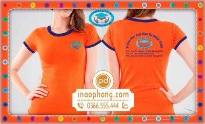 Mẫu áo phông học sinh trường Global Link