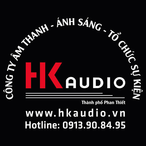 Logo in trên áo đồng phục nhân viên kĩ thuật HK Audio 1