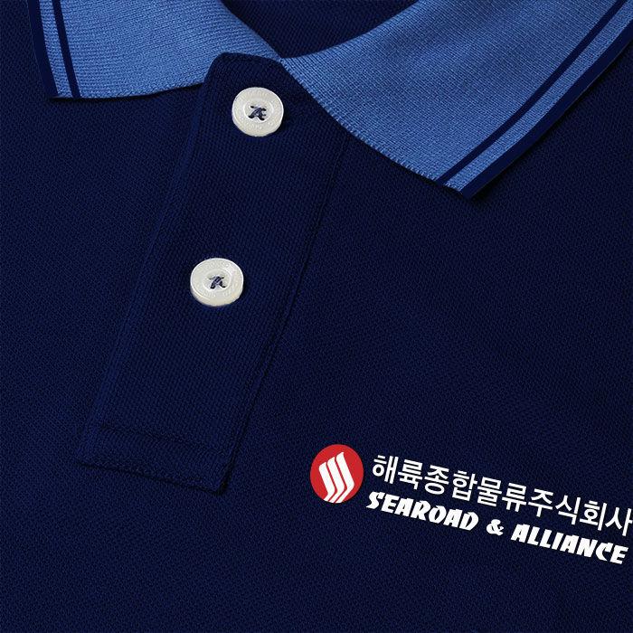 Logo được in trên đồng phục công ty Searoad & Alliance