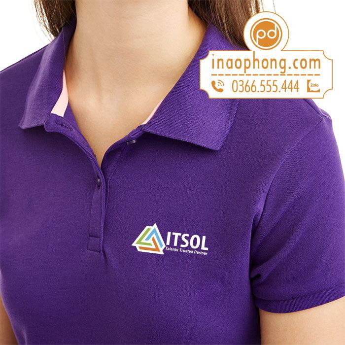 Mẫu logo được in trên áo phông đồng phục nhân viên công ty ITSOL
