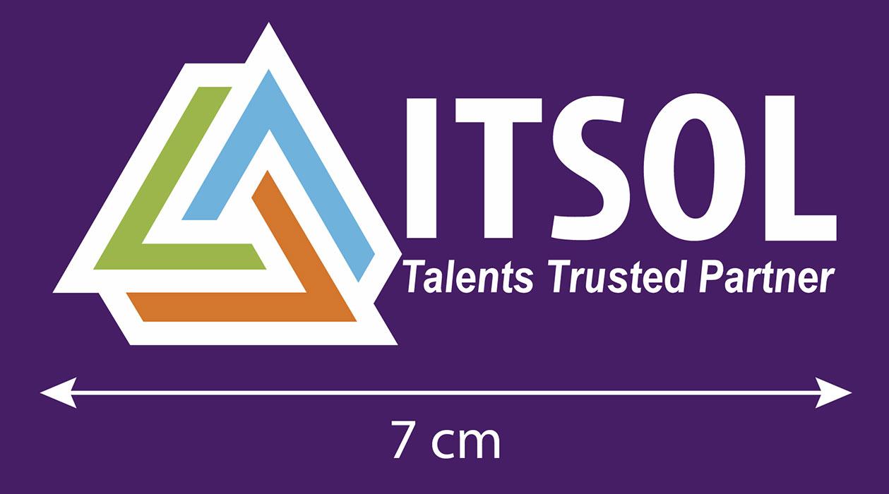 Mẫu logo được in trên áo phông đồng phục nhân viên công ty ITSOL 01