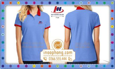 Đồng phục áo phông nữ Công ty Huy Hoàng Color