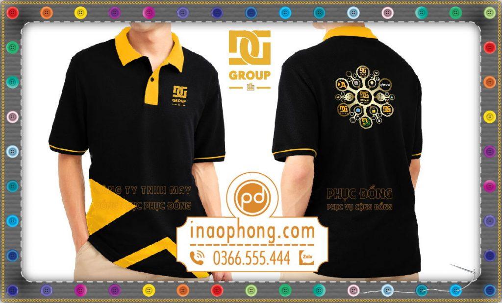 Đồng phục áo phông tập thể công ty IT DG Group