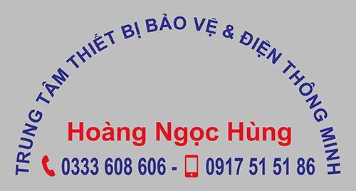 Logo in lên áo phông đồng phục nhân viên Hoàng Ngọc Hùng 01